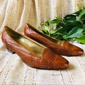 Minimalist Woven Leather Heels